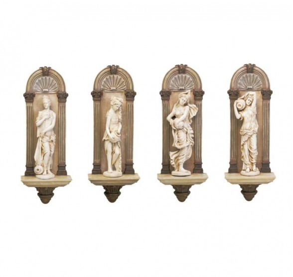 THE PARIS NYMPHS (FOUR STATUES)