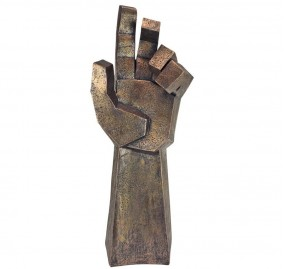 FREEDOM RISING CUBIST HAND STATUE