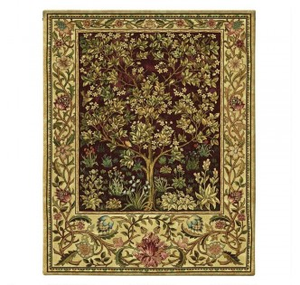 THE TREE OF LIFE TAPESTRY RUBY