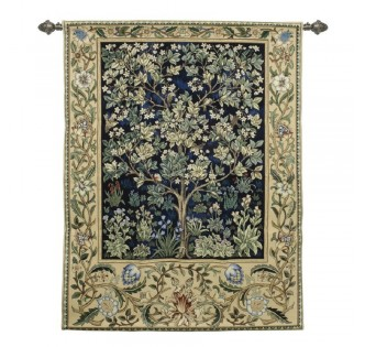 THE TREE OF LIFE TAPESTRY SAPPHIRE