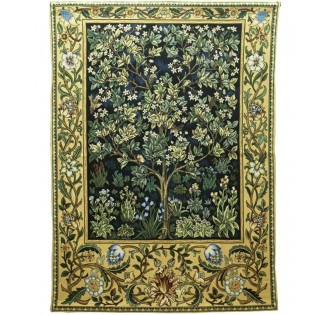 THE TREE OF LIFE TAPESTRY EMERALD