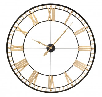 GOLDEN DIAMOND TIMES WALL CLOCK 120 CM