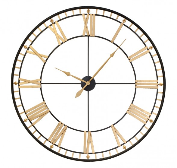 GIANT DIAMOND TIMES WALL CLOCK 120 CM