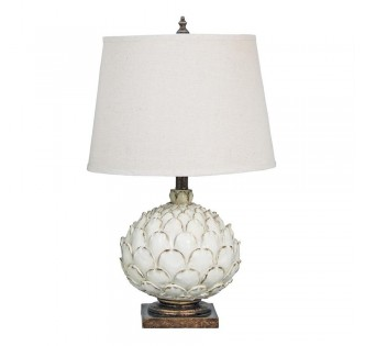 THE WHITE ARTICHOKE TABLE LAMP