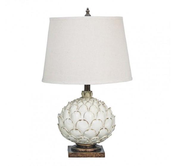 THE WHITE ARTICHOKE TABLE LAMP