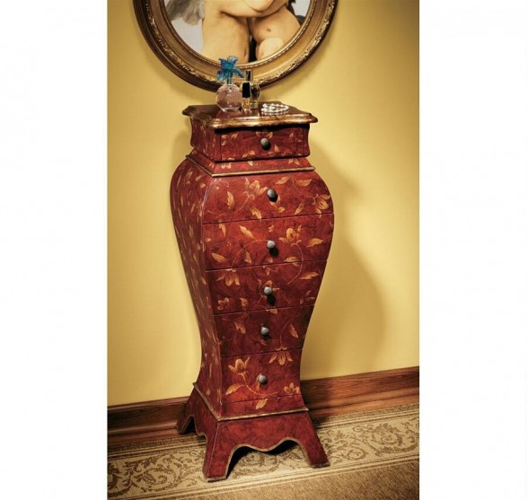 FRENCH CHATEAUX WOODEN CABINET