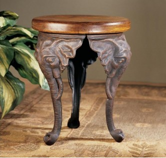 THREE ELEPHANTS OF WISDOM STOOL