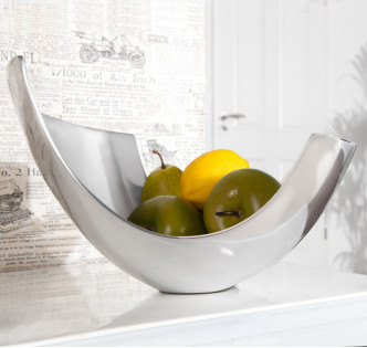 ALUMINIUM ABSTRACT FRUIT BOWL